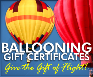 Dallas Balloon Ride Christmas Gift Certificates