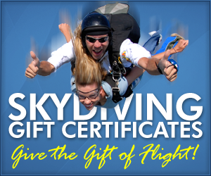 Washington Skydiving Gift Certificates