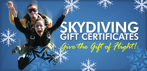 San Diego christmas Skydiving Gift Certificates