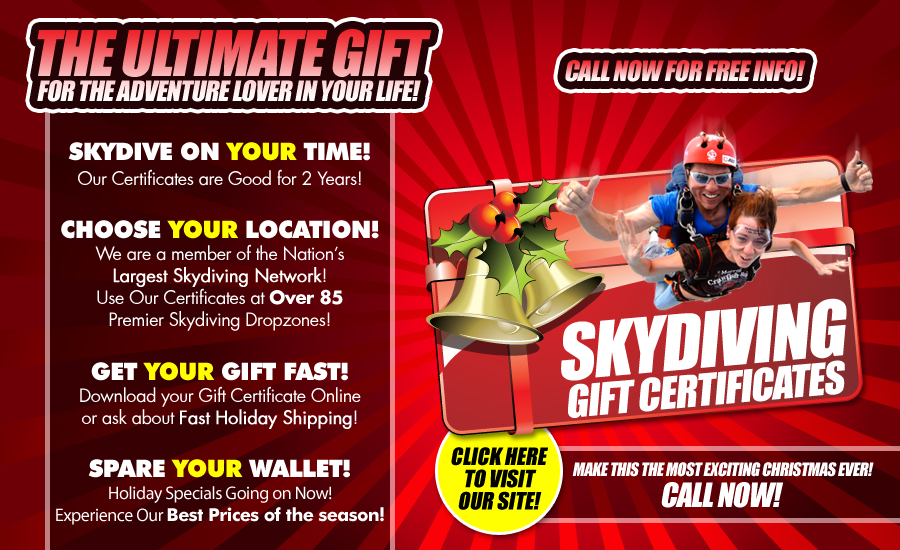 Atlanta Skydiving Gift Certificates by Atlanta Skydiving