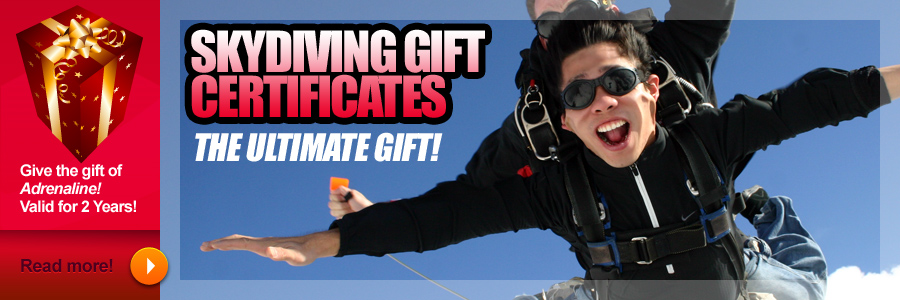 Caln Skydiving Gift Certificates