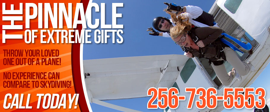 Skydiving Birmingham Alabama Gift Certificates