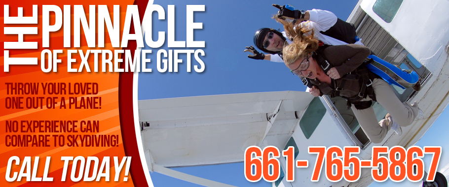 Skydiving Los Angeles California Gift Certificates